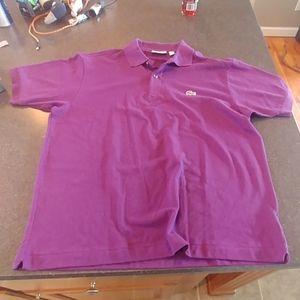 Lacoste purple polo shirt